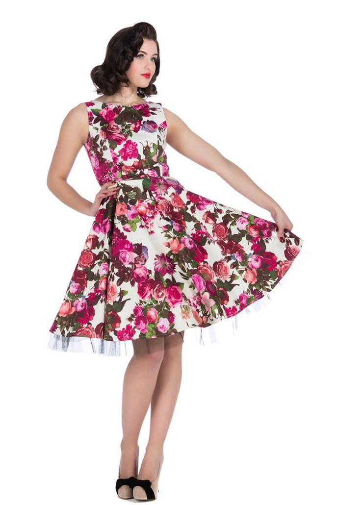 retro kleding HR Betty Vintage Rose Dress  We zien natuurlijk veel jurkjes die geïnspireerd zijn op de jaren 50, maar onze Betty Dress bracht ons echt terug...