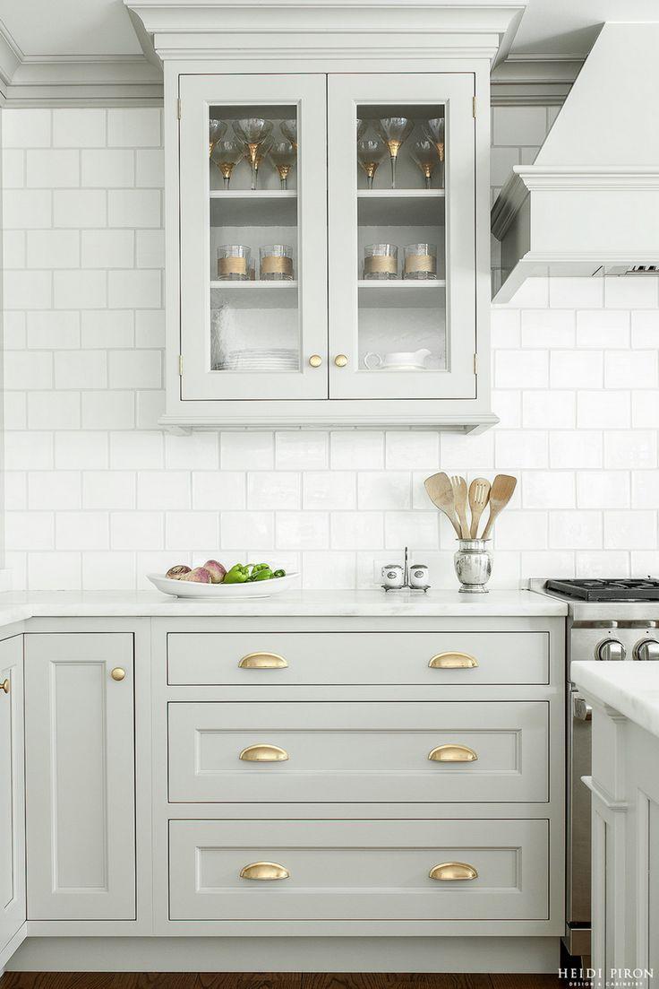 Look We Love Gray Kitchen Cabinets With Brass Hardware Kitchen Inspirations Kitchen Cabinet Design