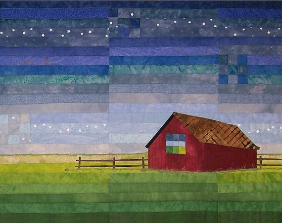 'Art Quilt Early in the Morning' by #forquiltssake on Etsy