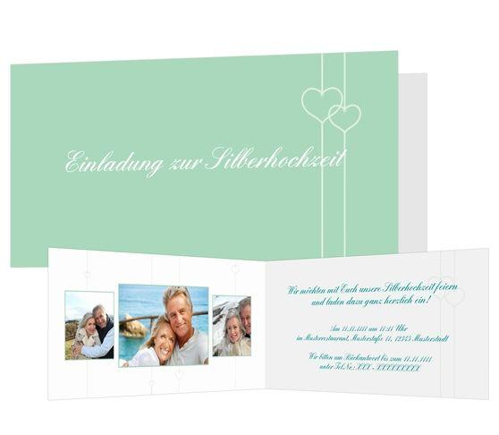 Einladungskarten Silberne Hochzeit   Einfach Aus Unseren Vorlagen Online  Direkt Selber Gestalten. Dafür Ist Keine Software Nötig. Große Auswahl.