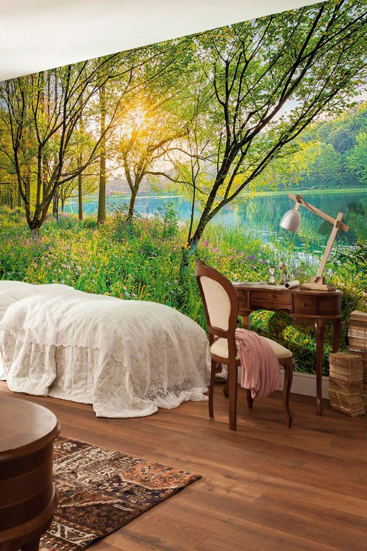 76 best wall mural images on pinterest wall murals wallpaper brewster home fashions komar spring lake wall mural