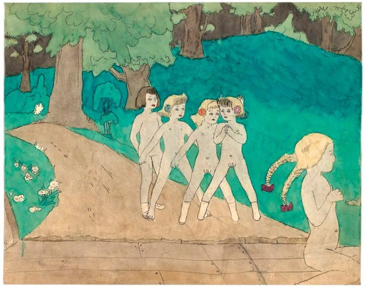Classic outsider artist Henry Darger, featured in Raw Vision 39 and 74. http://rawvision.com/articles/further-adventures-dargers-vivian-girls http://rawvision.com/articles/heroes-and-villains-henry-darger