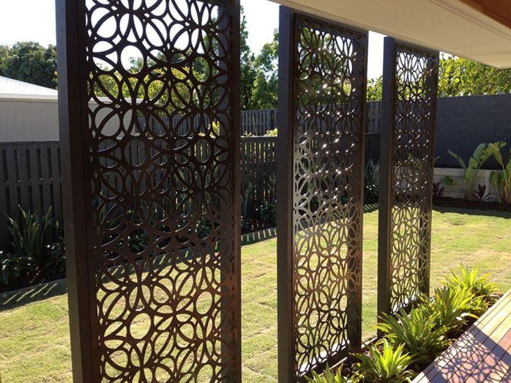 Modern Garden Screens Exterior Design Metal Garden