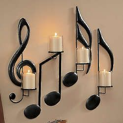 Noteworthy Music Themed Wall Sconces.