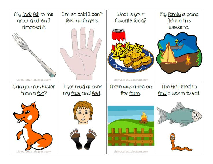 Articulation: F Sentences Flash Cards (Initial Position) Freebie!  ~Ms. Lane