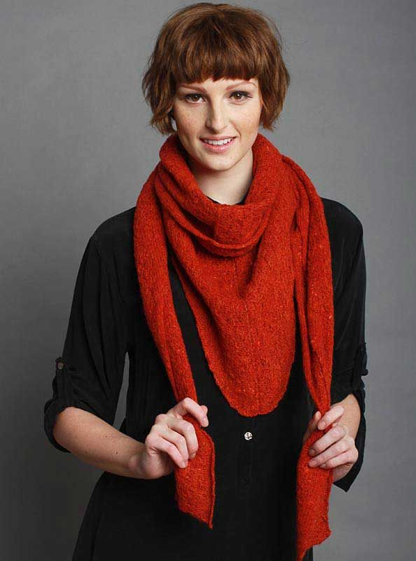 Gypsy Scarf in Red | McKernan Woollen Mills | Handmade scarves made in Ireland | Irish Design | Weaving & Knitting