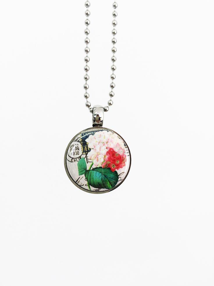 Maps & Postcard button set in tLb Stainless pendant. LOVE IT! www.twolyttelbuttons.co.nz