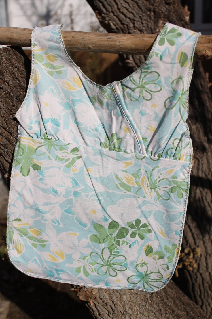 Reuseable shopping bag made from upcycled t-shirt. $5.00, via Etsy.