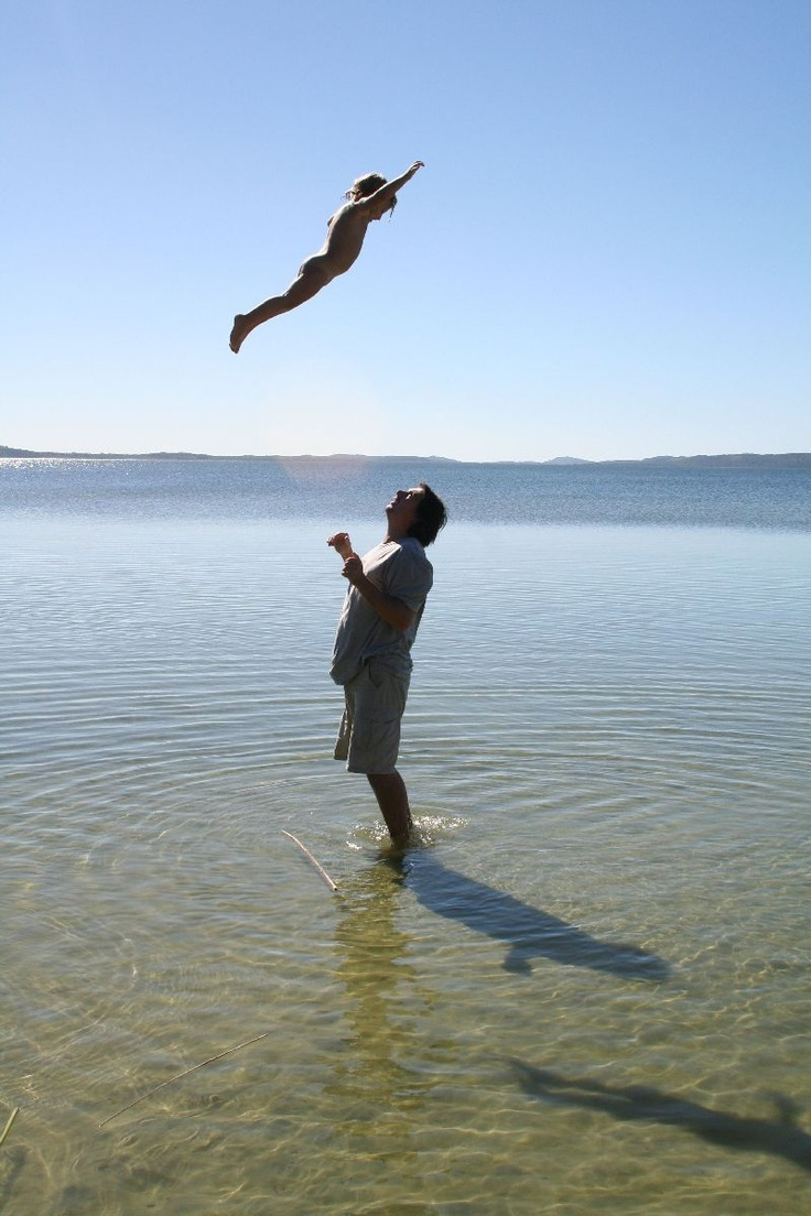 Kosi Bay Lakes - Look how children are natural athletes. I often did this with my kids. This was one of the last times I could do it. They became too heavy! http://memela.co.za