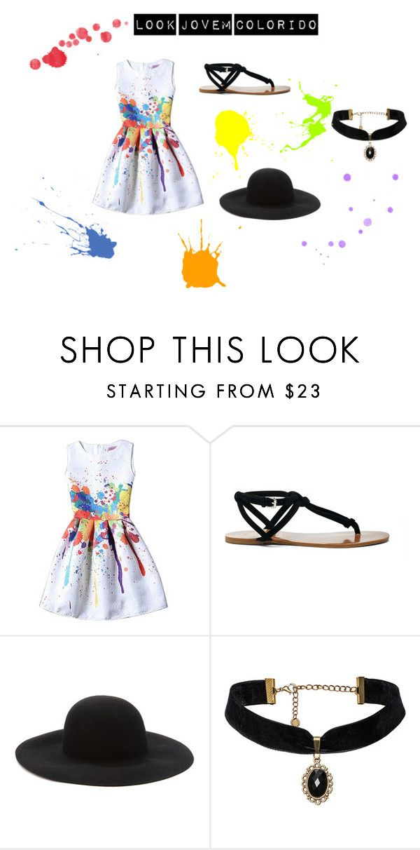 """Look Jovem Colorido"" by gabydesigner on Polyvore featuring Sole Society and Forever 21"