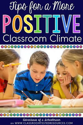 Some of my favorite tips that are super easy to implement to create a more positive classroom climate!