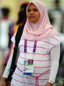 Pregnant Olympic shooter from Malaysia hopes baby to cooperate during London Olympics 2012 competition