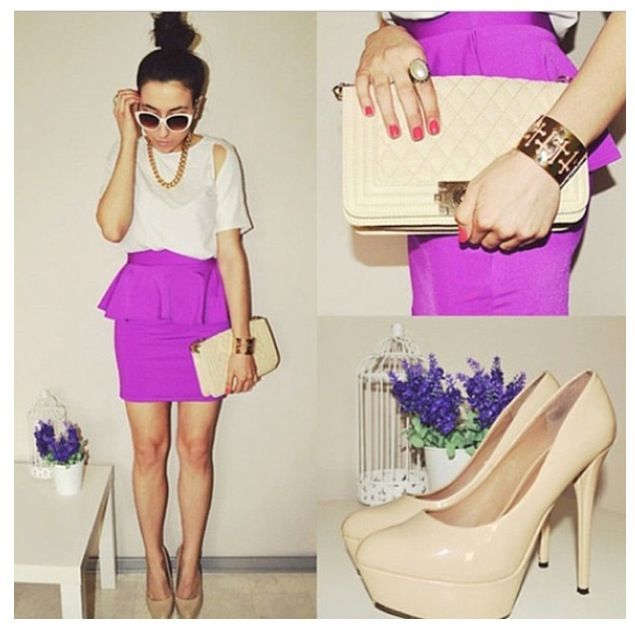 Inspirational Purple skirt by Pam S