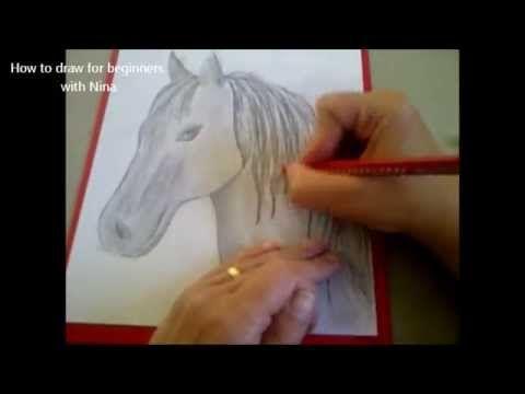 Cómo dibujar un caballo. Como hacer un dibujo para principiantes. Como desenhar um cavalo - YouTube