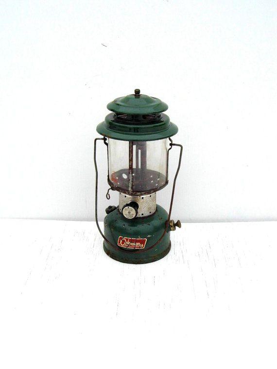 Vintage Coleman 220E White Gas Lantern Coleman by PaperWoodVintage