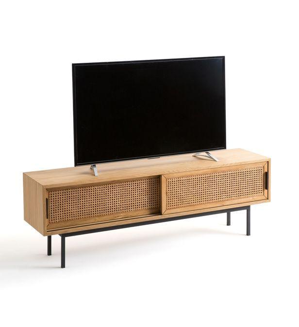 Meuble Tv Chene Et Cannage 160 Cm Waska La Galeries Lafayette En 2020 Meuble Tv Chene Meuble Tv Cannage