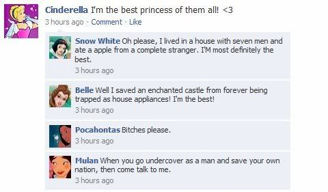 If the Disney Princesses were on Facebook... - Mommy Has A Potty MouthMommy Has A Potty Mouth