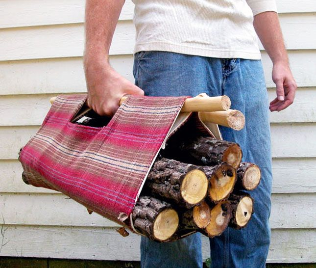 40 DIY Gift Ideas For Men (and women) Make a firewood tote plus lots more! We can certainly use a firewood tote here in Wyoming!
