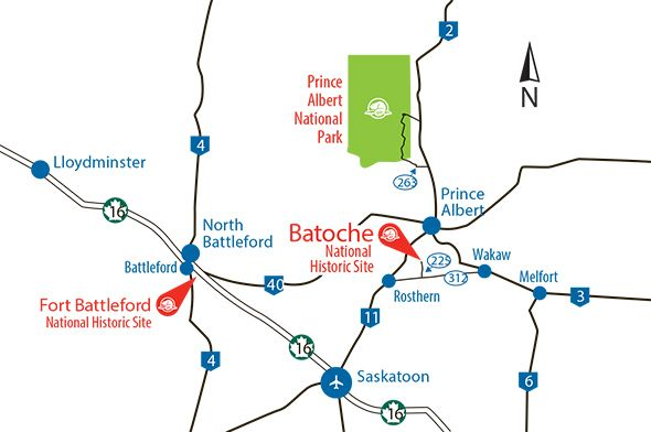 Parks Canada - Batoche National Historic Site - How to Get There