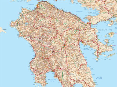 Visit Greece | Map of Peloponnese