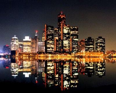 Detroit Skyline at Night... found through google images