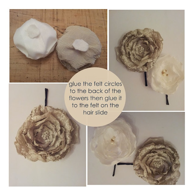 Heat Curled Silk Flower tutorial