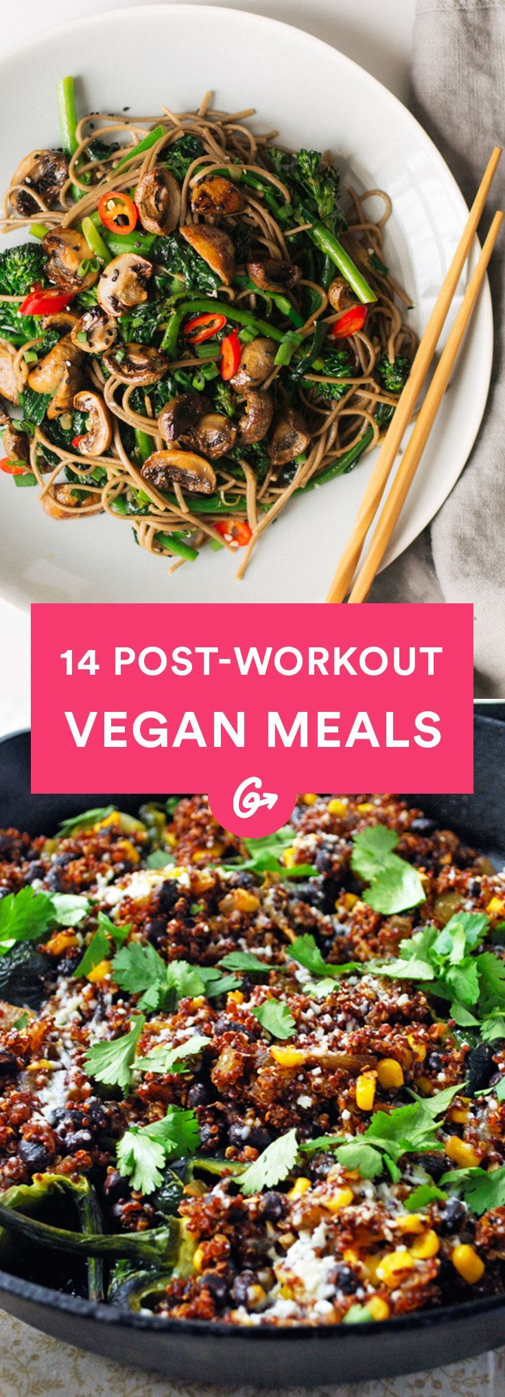 The verdict is in: Muscles dont need meat. #vegan #postworkout #recipes http://greatist.com/eat/vegan-post-workout-meals