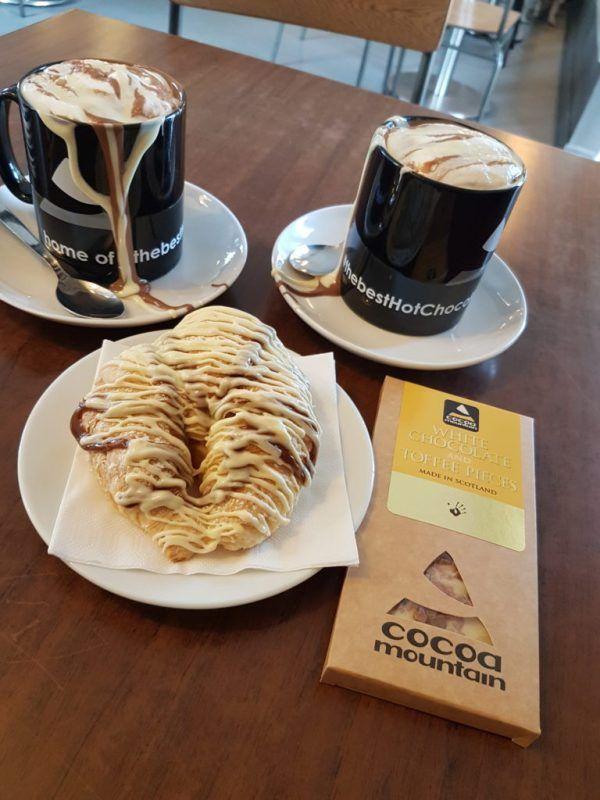 Chocolate overdose at Cocoa Mountain, Durness in Scotland. North Coast 500