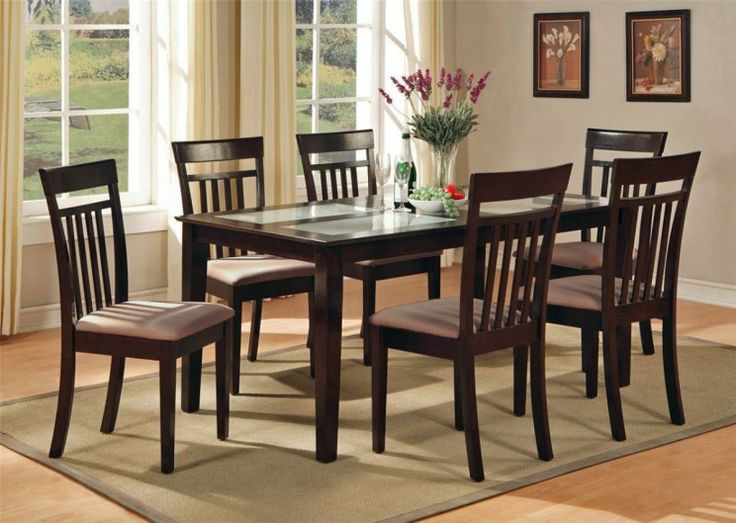 Dining Room Centerpieces For Table Centerpiece With Maple Finish And Chair On Brown Rug Also Glass Window