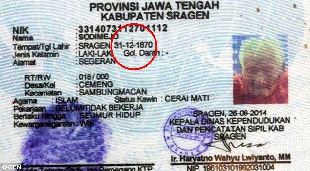 mini.press: Ανακάλυψαν Ινδονήσιο 145 ετών, ως τον μεγαλύτερο ά...