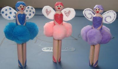 Fairy peg dolls. Unbelievable how long my 11 y/o and 6 y/o played with these.  They even made a prince!