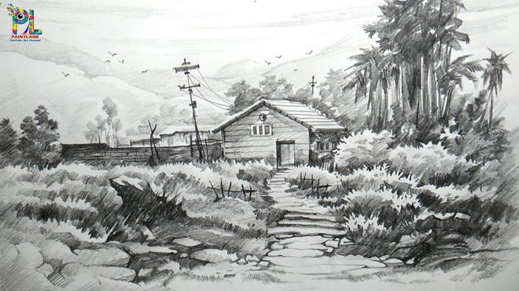 landscape drawing shading simple pencil drawings easy draw shade sketches sketch nature step paintings hard watercolor topbuzz google
