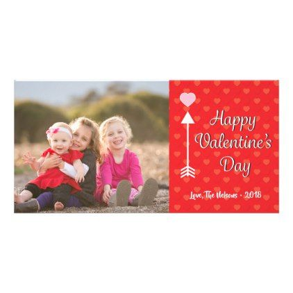 Cute Happy Valentine's Day Photo Card - valentines day gifts love couple diy personalize for her for him girlfriend boyfriend