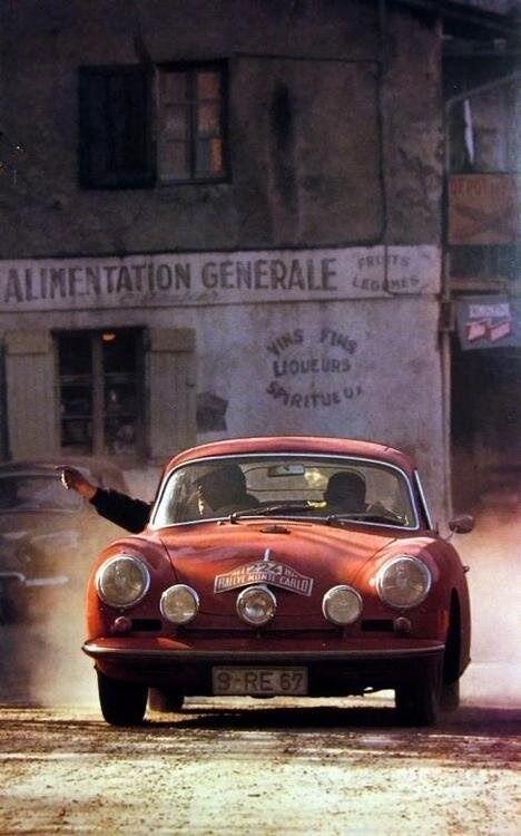 Porsche 356 in Monte Carlo Rallye