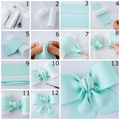 Bow step by step http://www.recette-gateau.eu/realisation-dun-papillon-en-pate-a-sucre/