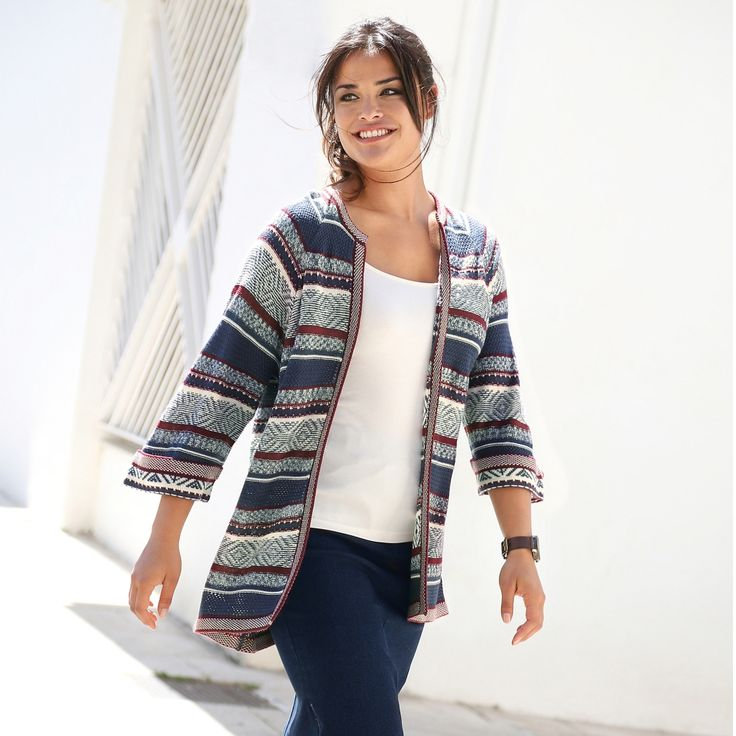 Veste en tweed femme grande taille