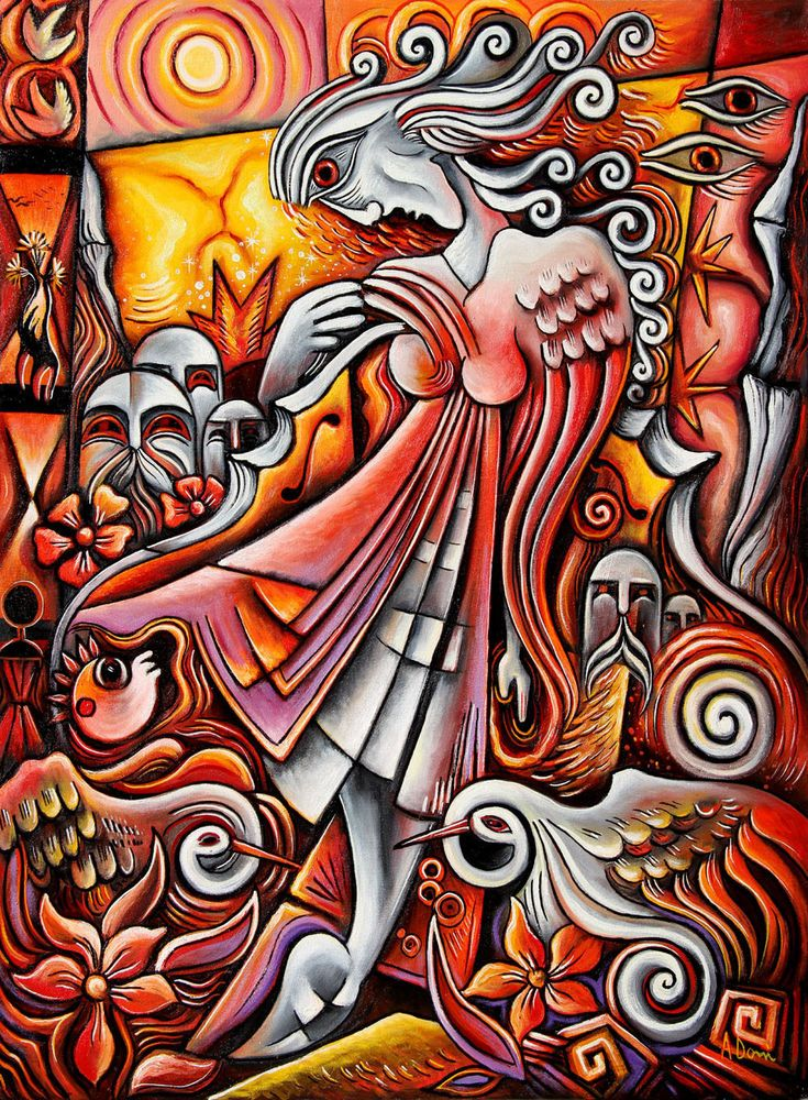 Cubist oil painting by Adrian Doni.!! #Cubism