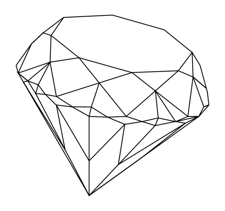 how to draw a teardrop diamon