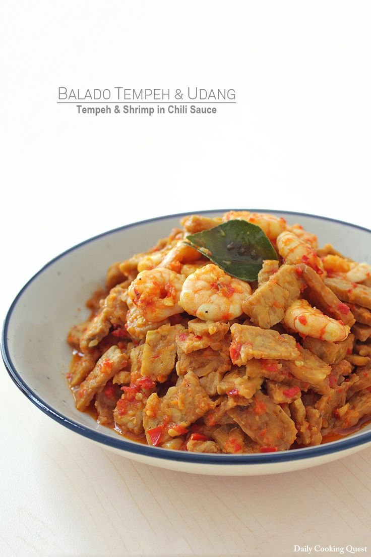 Balado Tempeh dan Udang - Tempeh and Shrimp in Chili Sauce
