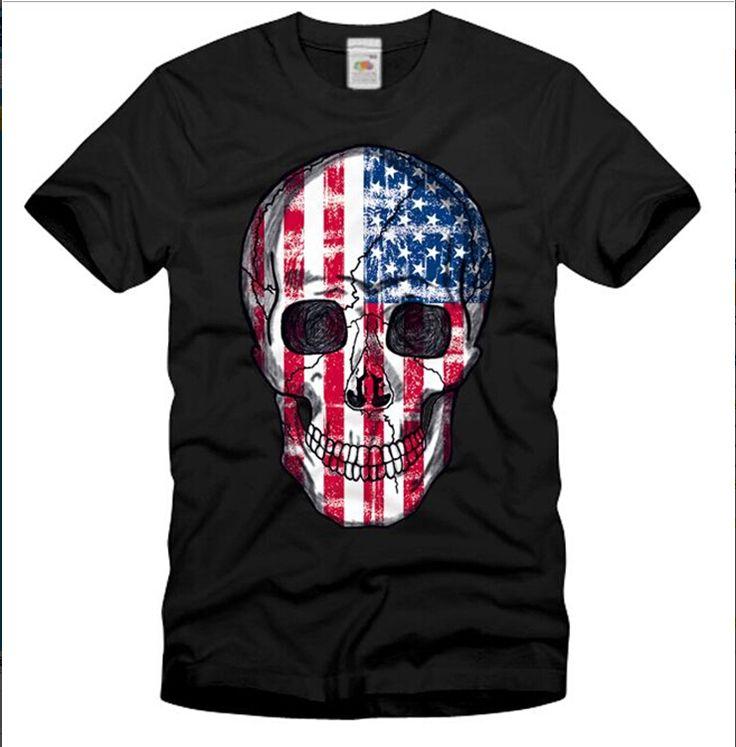 Cool men dress 2015 Brand Identity skull print top tees Fitness Summer Style t shirts Men Undershirt Men Dress,US size