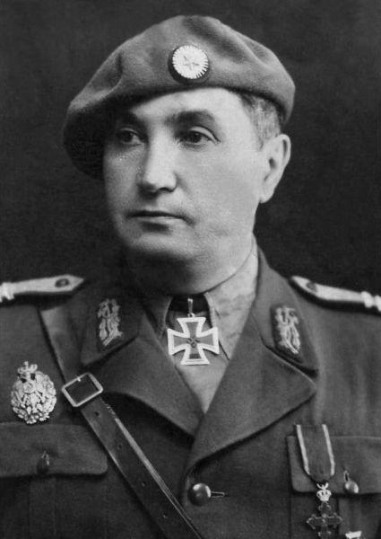 Major-General Gheorghe Manoliu (Romania) --- Birth: March 13th, 1888 (Piatra Neamt/Moldavia, Romania) - Death: August 28th, 1980 (Bukarest, Romania). Commanding Officer 4th Mountain Brigade (40-42). General Officer Commanding 4th Mountain Division (42-43). General Officer Commanding 4th Corps Area (43-45). - http://en.ww2awards.com/person/28145