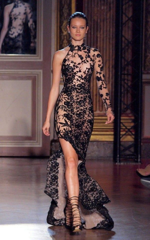 Zuhair Murad Fall Winter Collection Bandage Dresseslace