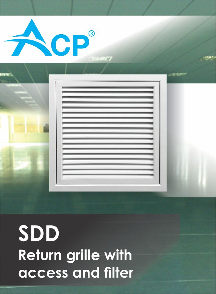 Return grill with access and filter SDD