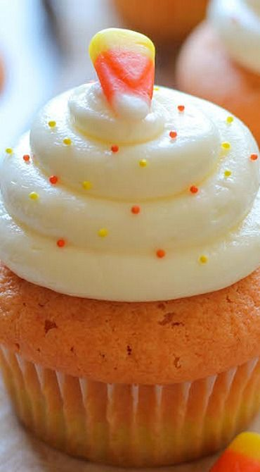 Candy Corn Cupcakes Recipe | Damn Delicious