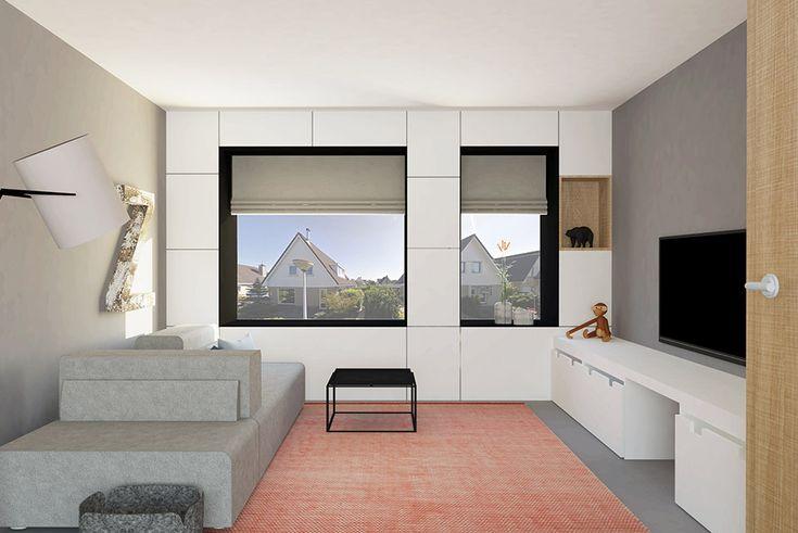 Moderne woonkamer met leolux ponton bank en fork lamp van Diesel   Adrianne van Dijken Interieuradvies