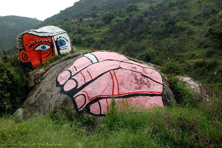 "Orgosolo, Sardinia - famous for its ""murales"", or political street art graffiti"
