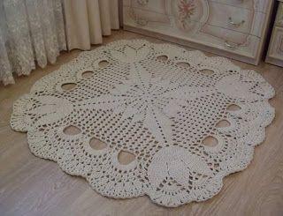 Tina's handicraft : crochet carpet