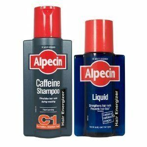 Alpecin Shampoo + Alpecin Liquid by Alpecin. $25.67. Slows down hair loss. Stimulates existing male hair growth. Keeps hair root active & maintains hair growth. Order contains: 1 x Alpecin Shampoo and 1 x Alpecin Liquid. Alpecin Shampoo (250ml): The active caffeine ingredient stimulates existing male hair growth and prevents hair roots from prematurely becoming inactive, thereby slowing down hair loss. Simply leave on the hair for 2 minutes before rinsing off. The caffein...