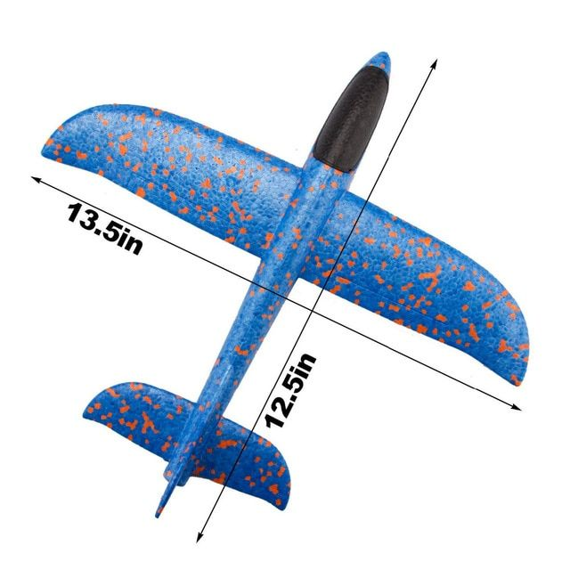 34cm Foam Plane Throwing Glider Toy Airplane Inertial Foam Epp Flying Model Gliders Outdoor Fun Sports Planes Toy For Child Glider Toys Airplane Toys Toy Plane