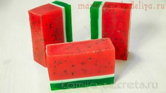 Видео мастер-класс по мыловарению: Мыло арбуз